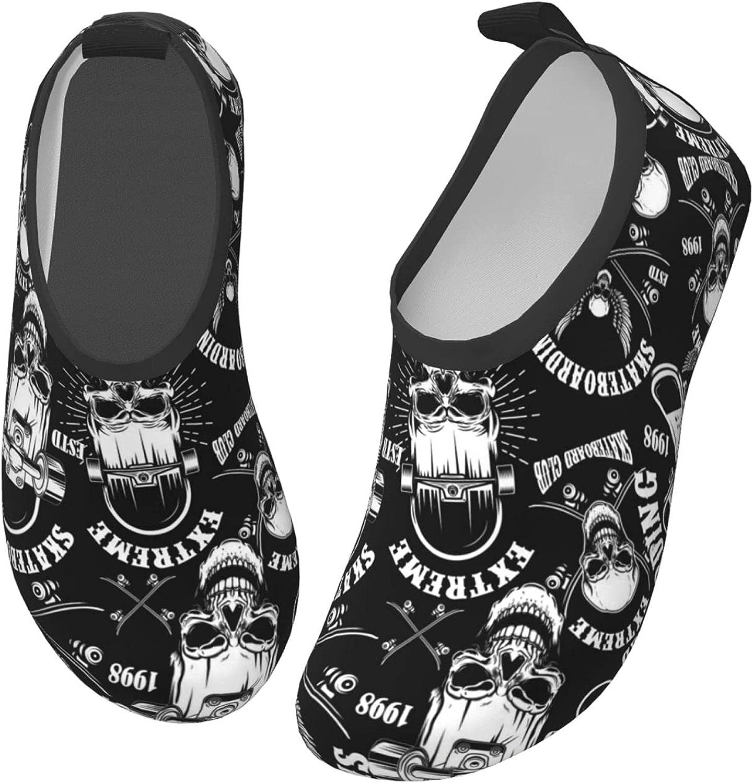Fairy UMI Skateboarding Skull Toddler Water Shoes Non-Slip Aqua Sports Shoes Barefoot Swim Shoes Beach Surf for Boys Girls