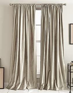 DKNY Modern Knotted Velvet Room Darkening Lined Curtain Panel Pair