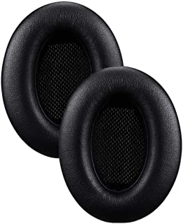 Memory Foam Replacement Ear Pads, Leather-Covered Earpads for Bose QuietComfort 15 (QC15) / Ae2 / Ae2i / Ae2w / SoundTrue and SoundLink Over-Ear Headphones (Black)