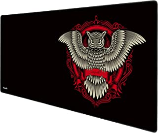 Anpollo Extended Large Speed Gaming Mouse Pad Gaming XXL Large Carpet Mouse Mat Pad 900x400mm Dimensions with Non-Slip Rubber-Black owl