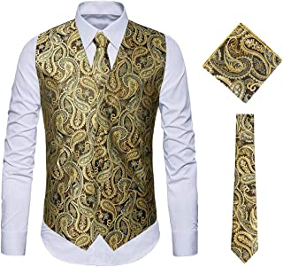 AngelSpace Mens Stand up Collar Floral Gilded Evening Club Long Sleeve Western Shirt