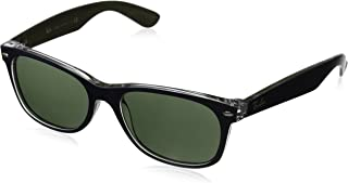 RAY-BAN RB2132 New Wayfarer Sunglasses, Military Blue & Green/Green, 55 mm