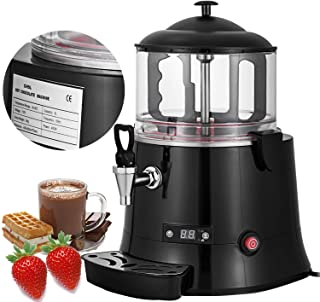 Happybuy Commercial Hot Chocolate Machine 400W Chocolate Beverage Dispenser 5 Liter Hot Chocolate Maker and Milk Frother 110V Beverage Dispenser Machine for Restaurants Bakeries Cafes