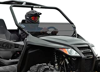 SuperATV Heavy Duty Dark Tint Standard Half Windshield for Arctic Cat Wildcat Trail (2014+) - Quick and Easy to Install!