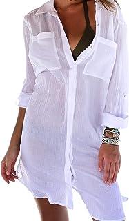 Hiamago Womens Summer Bathing Suit Coverups Beach Bikini Swimwear Tunic Dress Kimono Cardigan Beach Swimsuit Cover Ups