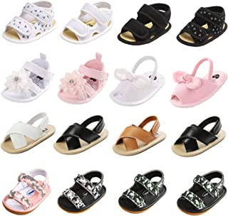 Unisex Baby Boys Girls Shoes Sandal Infant Summer Flats Premium Soft Rubber Sole Anti Slip Crib Toddler First Walker Shoe