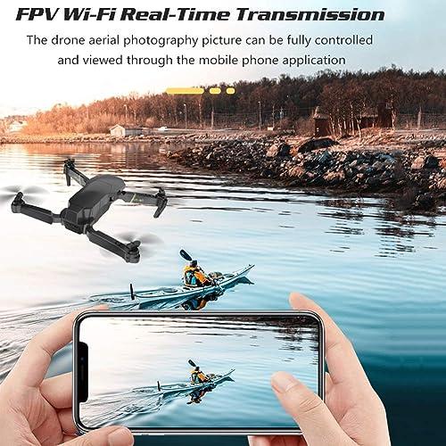los últimos modelos GCDN Plegable RC Dron, WiFi 4K Cámara FPV Cuadricóptero, Cuadricóptero, Cuadricóptero, Portátil Control Remoto Helicóptero, Aplicación Juguetes Avión, con Almacenamiento Bolsa Altitud Bodega, 360 Grado Rollo Shooting  mejor oferta
