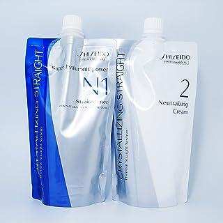 Shiseido Crystallizing Straight Hair Straightener N1 + Neutralizer Cream Set for Natural to sensitive Hair