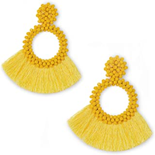 paper tassel earrings