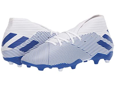 adidas Kids Nemeziz 19.3 FG J Soccer (Little Kid/Big Kid) (White/Team Royal) Kids Shoes