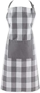 DII Buffalo Check Kitchen Collection, Apron, Gray & White