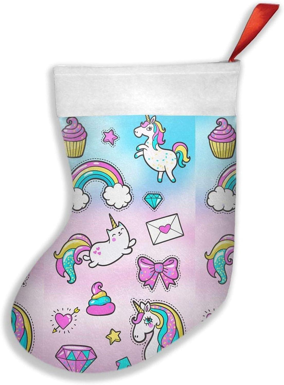 NRDXQ Cute Rainbow Unicorn online shop Art Stocking Cheap Big Size Xmas Christmas