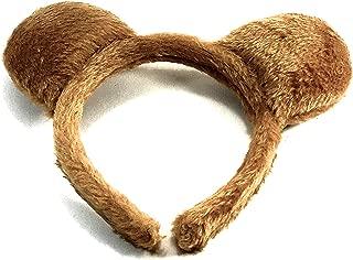 molly & Rose Teddy Bear Ears Brown Furry Aliceband Fancy Dress Hair Accessories World Book Day