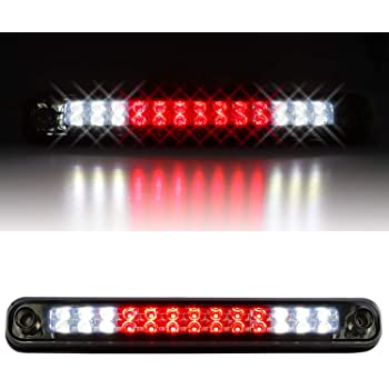 For 1988-1998 Chevy GMC C//K C10 LED Black Smoked Pair Tail Lights Smoke 3rd Brake Cargo Light Combo