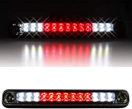 Sanzitop LED 3rd Brake Light High Mount Brake Light Fit for 1988-1998 Chevy Silverado/Chevy GMC C/K C10 1500-3500/GMC Sierra 16521970 16522433 (Chrome Housing Smoke Lens)