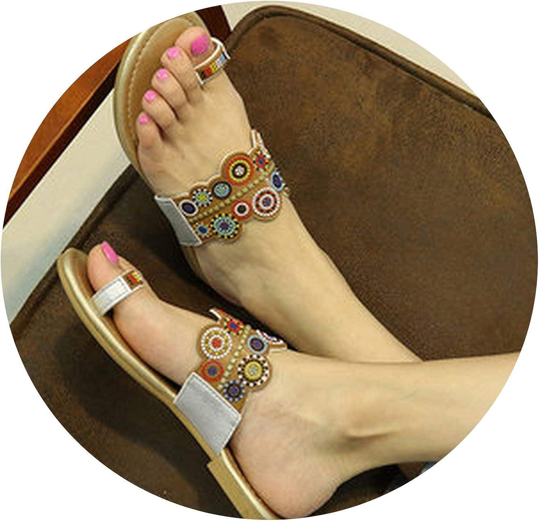 ALWAYS ME Slippers Women Summer Bohemia Style Women's Sandals Flat Heel Flip Flops Beach Slippers