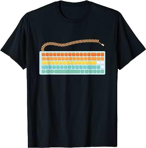 Blue Mechanical Keyboard Mens T-Shirt