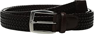 Torino 35mm Ital Woven Stretch Lea Belt - Brown
