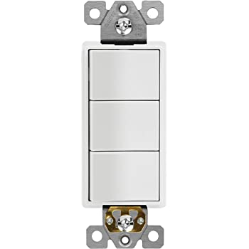[DIAGRAM_5UK]  ENERLITES Triple Paddle Rocker Combination Decorator Switch, Ground  terminal, Clamp-Type Back Insert Wiring, Copper Only, Single Pole,  Residential Grade, 15A 120V-277V, 62755-W, White - - Amazon.com   Triple Rocker Switch Wiring Diagram      Amazon.com