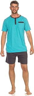 Casual Men's Shorty Pyjamas pj Set Short Sleeve in Striped Look Sleepwear