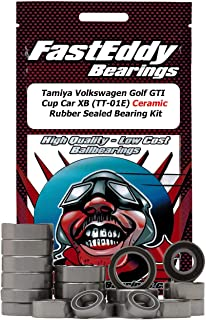Tamiya Volkswagen Golf GTI Cup Car XB (TT-01E) Ceramic Rubber Sealed Ball Bearing Kit for RC Cars
