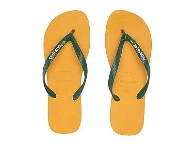 Havaianas Brazil Logo Flip Flops (Banana Yellow) Men