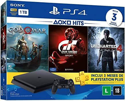 Console PlayStation 4 - Slim 1TB - Hits Bundle v3