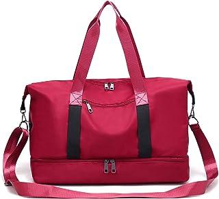 I IHAYNER Schulter-Handtaschen-Frauen-Damen-Segeltuch-Hochleistungs-Multifunktionstaschen Art und Weise rot