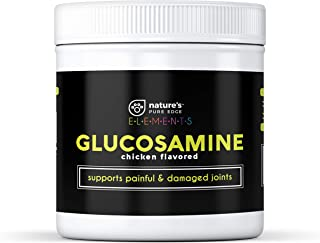 Nature's Pure Edge Glucosamine Dog and Cat Supplement Flavored with Real Chicken. Treats Painful and Damaged Joints. 170 Gram Jar.