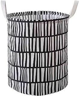 Krystal_wisdom Laundry Hamper Clothes Basket Cotton Waterproof Washing Bag Foldable Storage Cesto De Roupa Suja Laundry Basket Washing Bag,C,