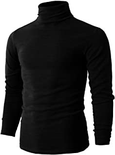 Mens Casual Slim Fit Pullover Sweaters Knitted Turtleneck Thermal Basic Designed
