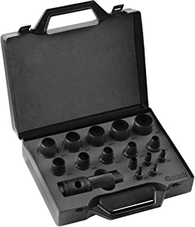 Peddinghaus 8004309001 Punch Gasket Cutter Set, Black, 3-30 mm, Set of 16 Pieces