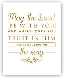 May the Lord Chalkboard Print by Ocean Drop Photography (8x10