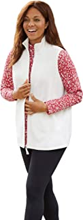 Women's Plus Size Zip-Front Microfleece Vest