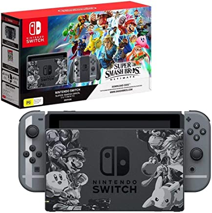 Nintendo Switch Super Smash Bro Ultimate Bundle with Download Code by Nintendo For Nintendo Switch