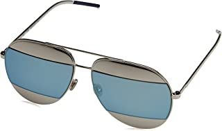 Womens Split 59Mm Metal Aviator Sunglasses