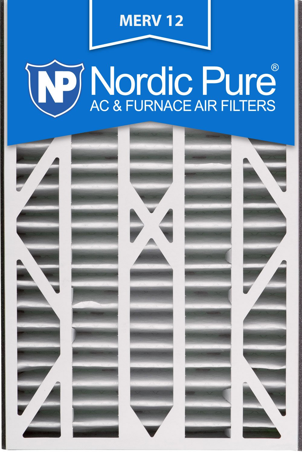Nordic Pure 16x25x3ABM12-7 Merv 12 交流电炉过滤器,7 件