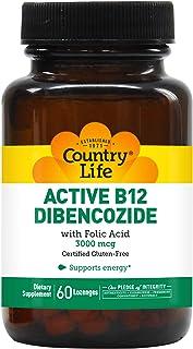 Country Life - Active B-12 Dibencozide with Folic Acid, 3000 mcg - 60 Sublingual Lozenges