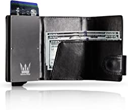RFID Blocking Wallet, Aluminum & Leather Slim Wallet, Credit Card Holder for All Kind Of Cards, In A Nice Gift Box