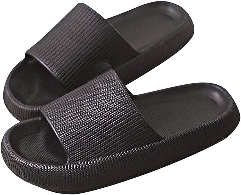 Pillow Slides Slippers Quick Dry Non-Slip Thick Sole Platform Pillow Slides, Super Soft Pillow Slides for Women and Men