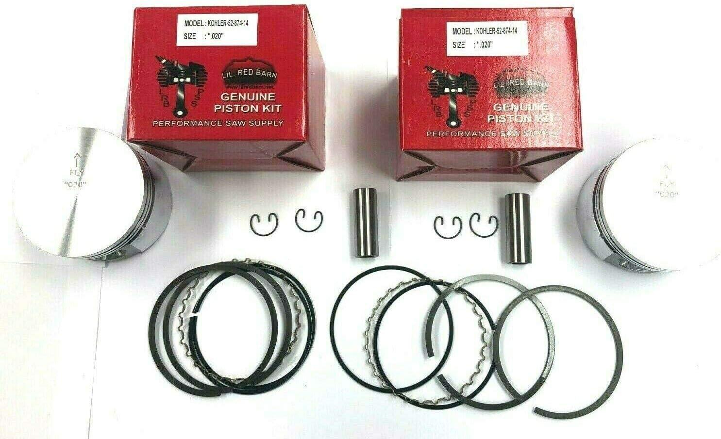 Challenge the lowest price of Japan Lil Red Barn Piston Kit Fits Kohler New mail order KT17 MV18 Repla MV16 M18