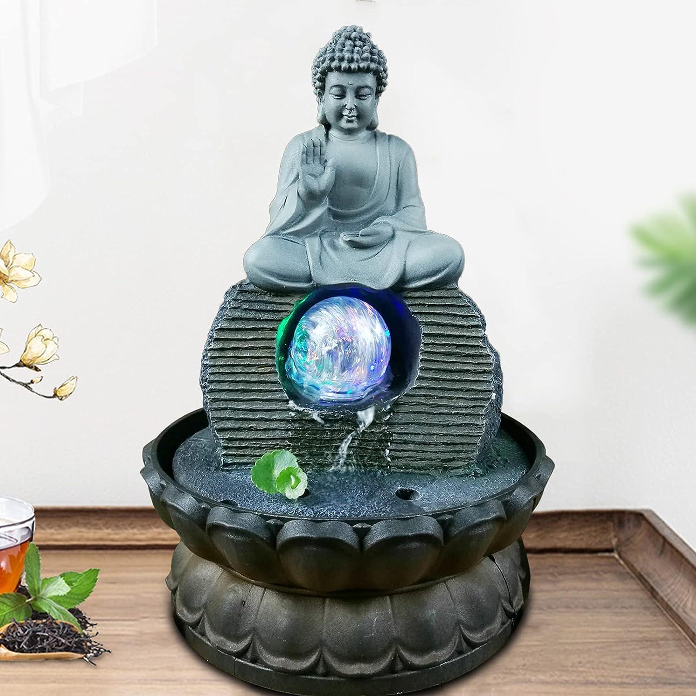 High quality new DNYSYSJ Buddha Statue Flowing Ornaments 110V Decor Water All items free shipping