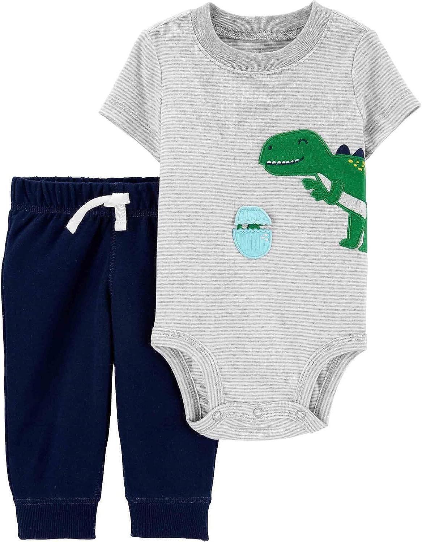 Carter's Baby Boy's 2-Piece Bodysuit and Pants Set