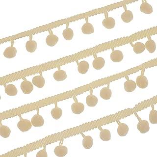 Juvale Cream Pom Ball Tassel Fringe Trim Ribbon (30 Yards)