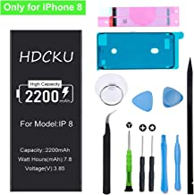 HDCKU Battery Replacement Kit for iPhone 8 2200mAh High Capacity Battery Repair Set A1863, A1905, A1906