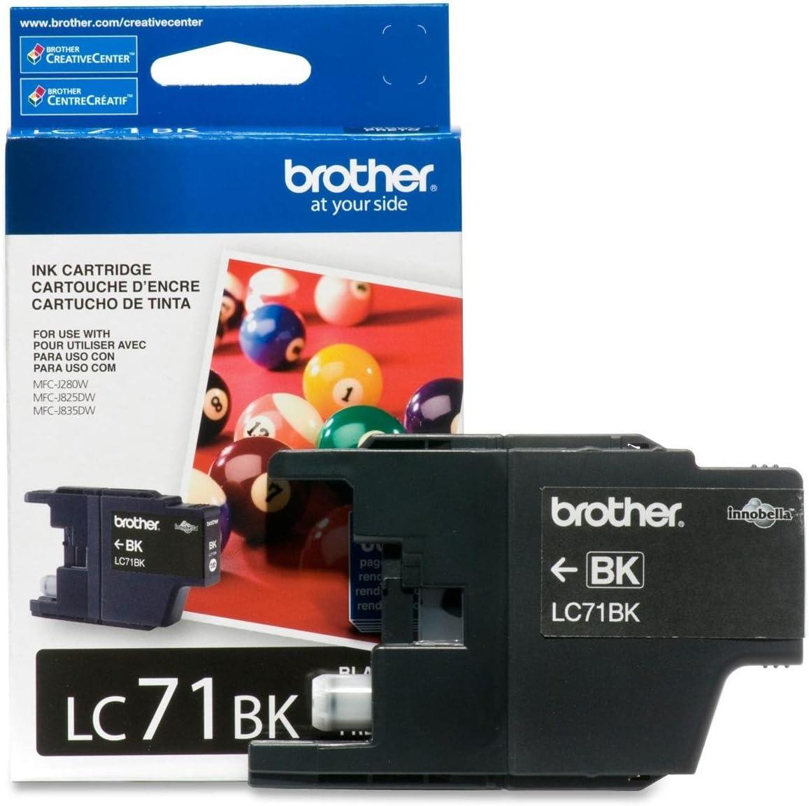 3 X Brother Printer LC71BK Standard Yield Black Ink