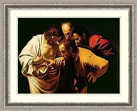 Framed Wall Art Print The Incredulity of St. Thomas, 1602-03 by Michelangelo M. da Caravaggio 26.75 x 21.62