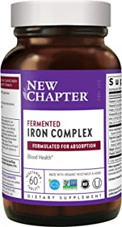 New Chapter Iron Supplement, Fermented Iron Complex (Formerly Iron Food Complex) with Organic Whole-Food Ingredients + Pro...