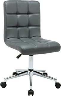 Porthos Home Finch Task Chair with Adjustable Height and 360° Swivel in Tufted Upholstery (Armless Design Suitable for Home Studios and Small Offices), One Size,