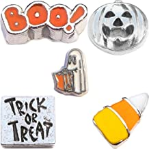 Trick or Treat Halloween Charm Set for Floating Lockets Jewelry